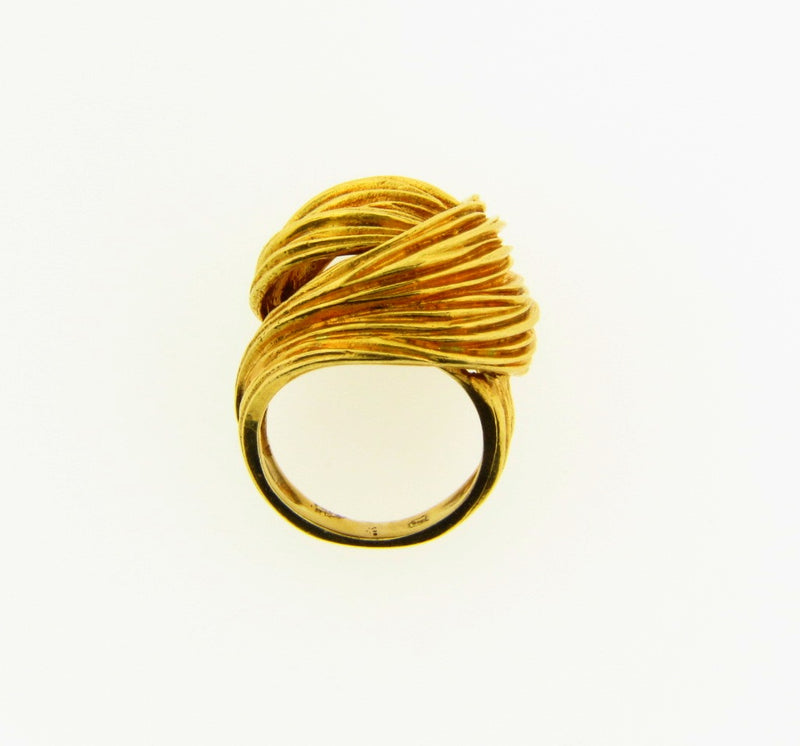 18K Yellow Gold, Knot Design Ring | 18 Karat Appraisers | Beverly Hills, CA | Fine Jewelry