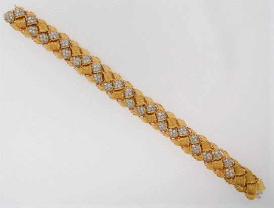 18K-YG DIAMOND BRACELET