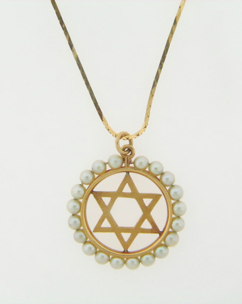 14K YELLOW GOLD STAR OF DAVID PENDANT | 18 Karat Appraisers | Beverly Hills, CA | Fine Jewelry