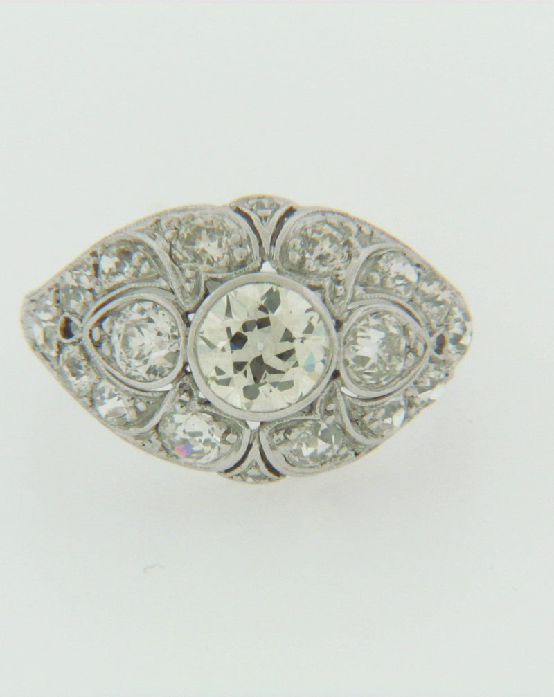 PLATINUM DIAMOND DOME RING | 18 Karat Appraisers | Beverly Hills, CA | Fine Jewelry