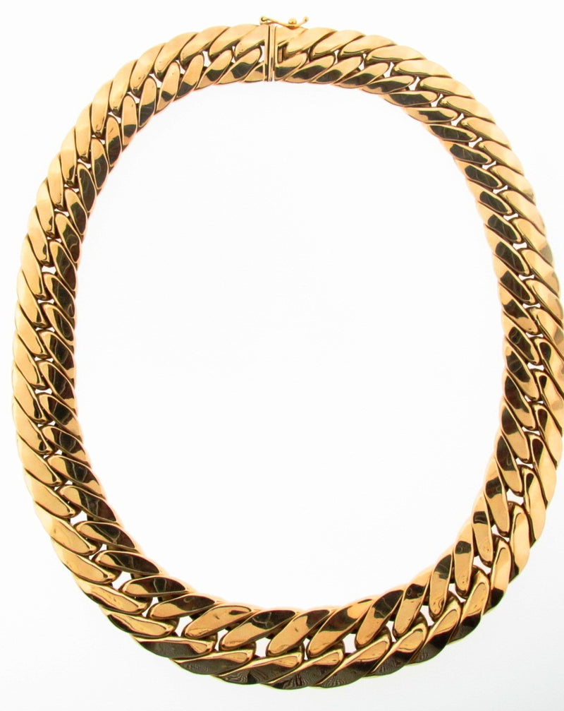 14K Yellow Gold Curb Link Necklace | 18 Karat Appraisers | Beverly Hills, CA | Fine Jewelry