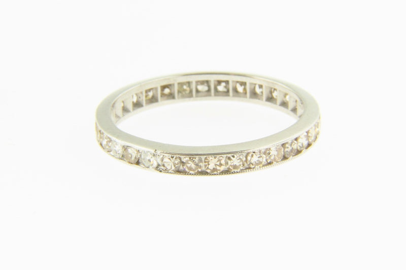 14K White Gold, Diamond Eternity Band | 18 Karat Appraisers | Beverly Hills, CA | Fine Jewelry