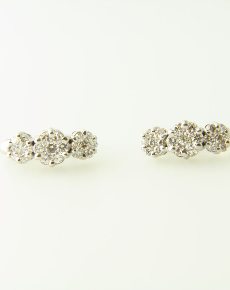 14K White Gold, Diamond Earrings | 18 Karat Appraisers | Beverly Hills, CA | Fine Jewelry