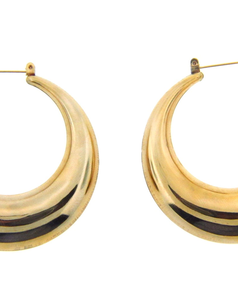 14K Yellow Gold Hoop Earrings | 18 Karat Appraisers | Beverly Hills, CA | Fine Jewelry