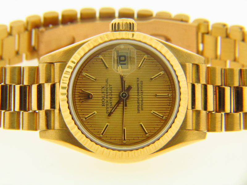 Lady's 18K Yellow Gold Rolex President Watch | 18 Karat Appraisers | Beverly Hills, CA | Fine Jewelry
