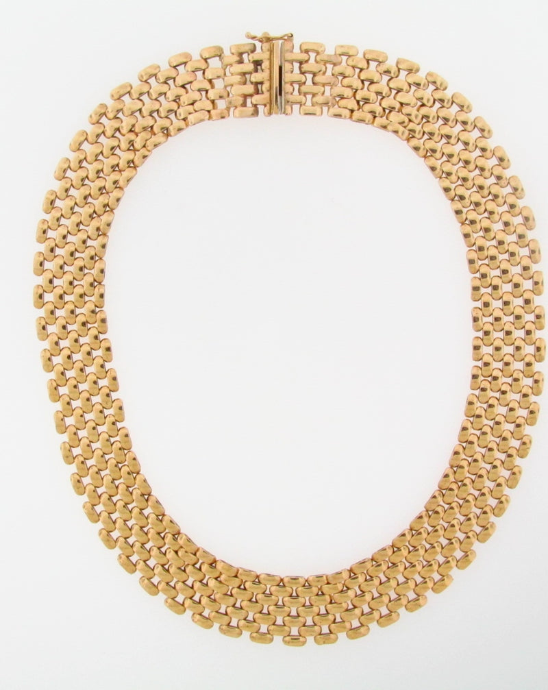 14K-YG PANTHER STYLE NECKLACE | 18 Karat Appraisers | Beverly Hills, CA | Fine Jewelry