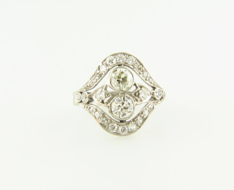 Art Deco, Platinum Diamond Ring