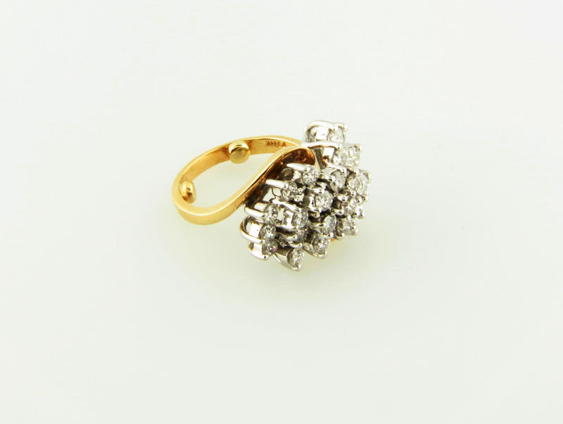 14K Yellow and White Gold, Diamond Cluster Ring | 18 Karat Appraisers | Beverly Hills, CA | Fine Jewelry
