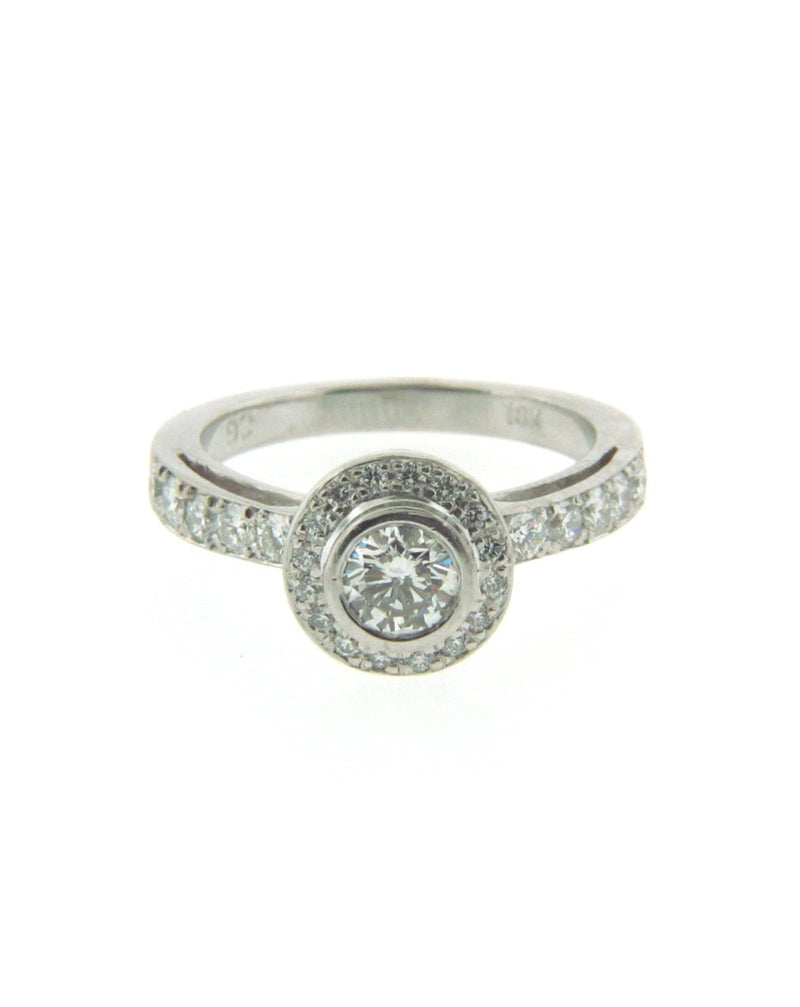 18K White Gold Diamond Solitaire Ring | 18 Karat Appraisers | Beverly Hills, CA | Fine Jewelry
