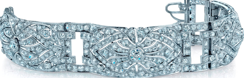 Art Deco, Platinum Diamond Bracelet