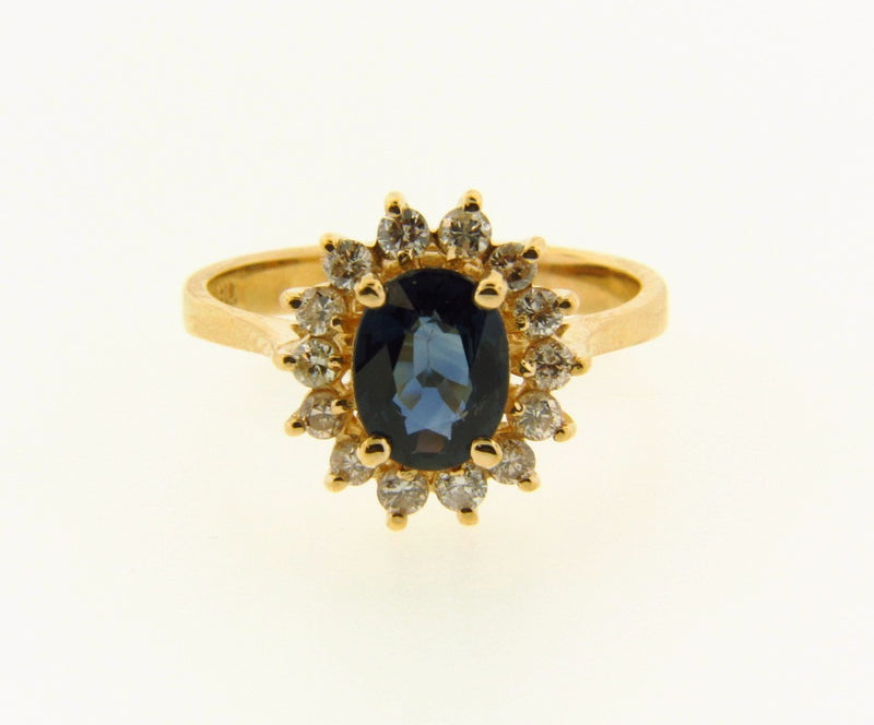 14K Yellow Gold, Sapphire and Diamond Ring | 18 Karat Appraisers | Beverly Hills, CA | Fine Jewelry