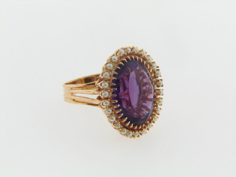 14K YELLOW GOLD AMETHYST RING | 18 Karat Appraisers | Beverly Hills, CA | Fine Jewelry