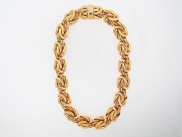 18K-YG FANCY LINK NECKLACE