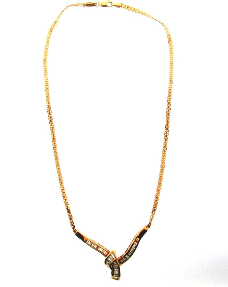 14K Yellow Gold Diamond Necklace | 18 Karat Appraisers | Beverly Hills, CA | Fine Jewelry