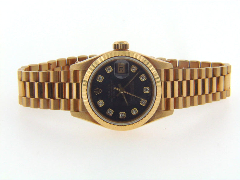 Ladies 18K Yellow Gold Rolex President Wristwatch