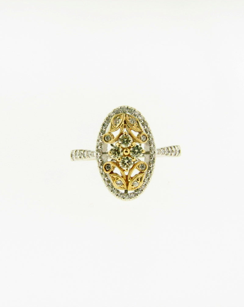 14K Yellow and White Gold Diamond Ring | 18 Karat Appraisers | Beverly Hills, CA | Fine Jewelry