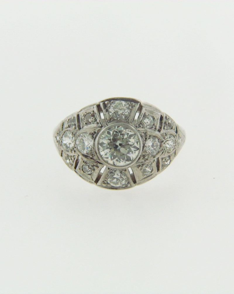 PLATINUM DIAMOND BOMBE RING | 18 Karat Appraisers | Beverly Hills, CA | Fine Jewelry