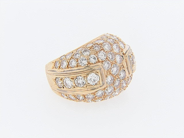 14K-YG DIAMOND BOMBE RING