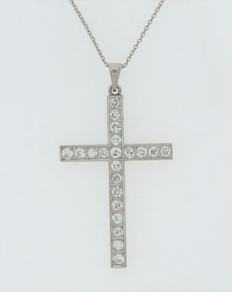 PLATINUM DIAMOND CROSS PENDANT | 18 Karat Appraisers | Beverly Hills, CA | Fine Jewelry