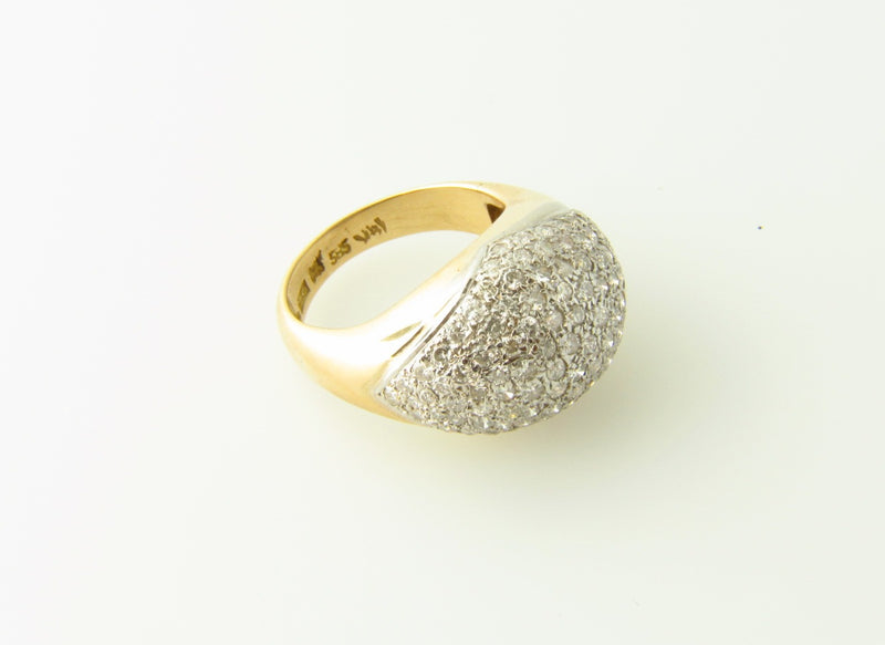 14K Yellow Gold, Diamond Bombe Ring | 18 Karat Appraisers | Beverly Hills, CA | Fine Jewelry