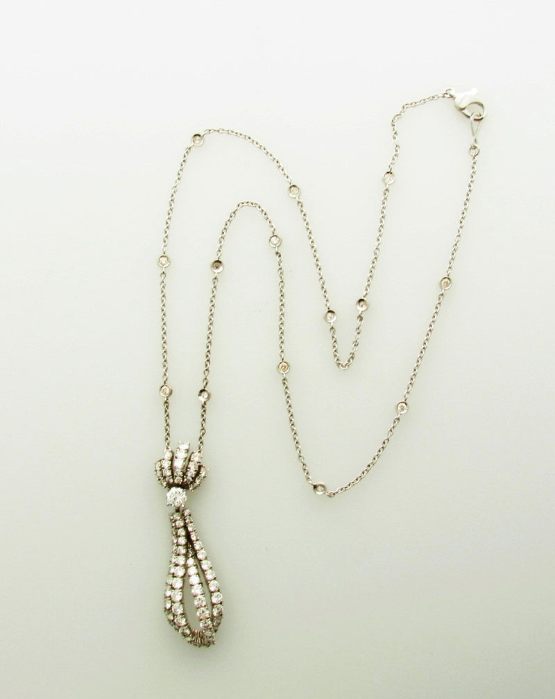 18K White Gold, Diamond Dangling Pendant | 18 Karat Appraisers | Beverly Hills, CA | Fine Jewelry