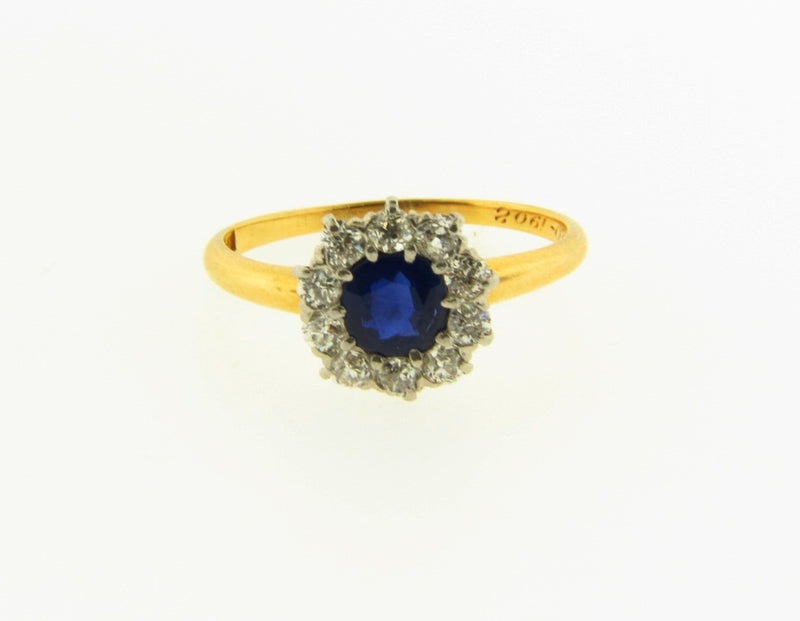 Edwardian 18K Yellow and White Gold, Sapphire and Diamond Ring | 18 Karat Appraisers | Beverly Hills, CA | Fine Jewelry