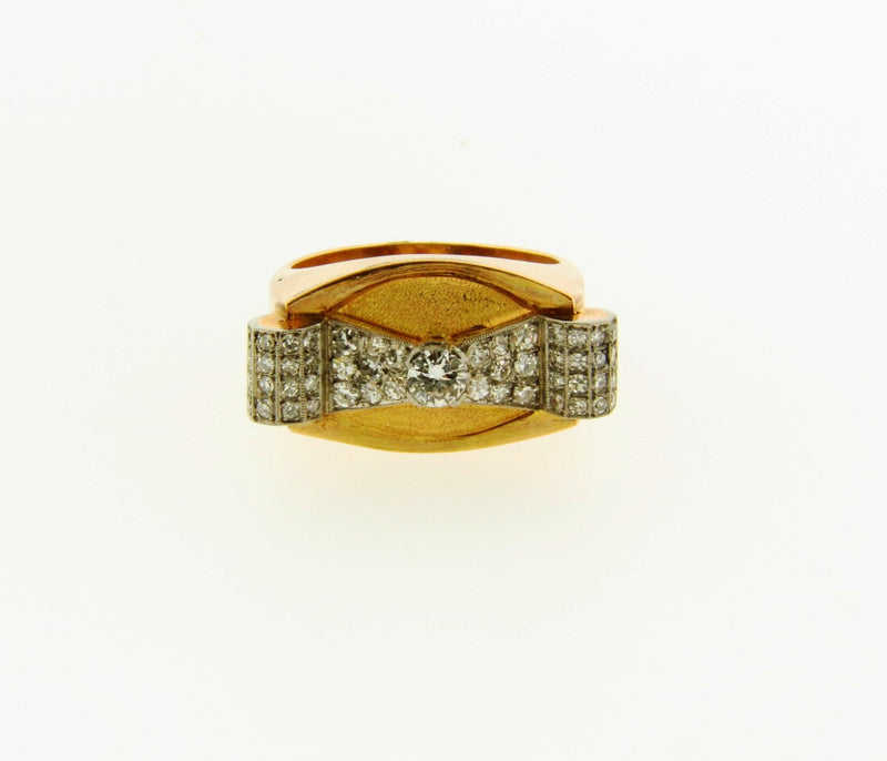 Retro 18K Rose Gold, Diamond Ring | 18 Karat Appraisers | Beverly Hills, CA | Fine Jewelry