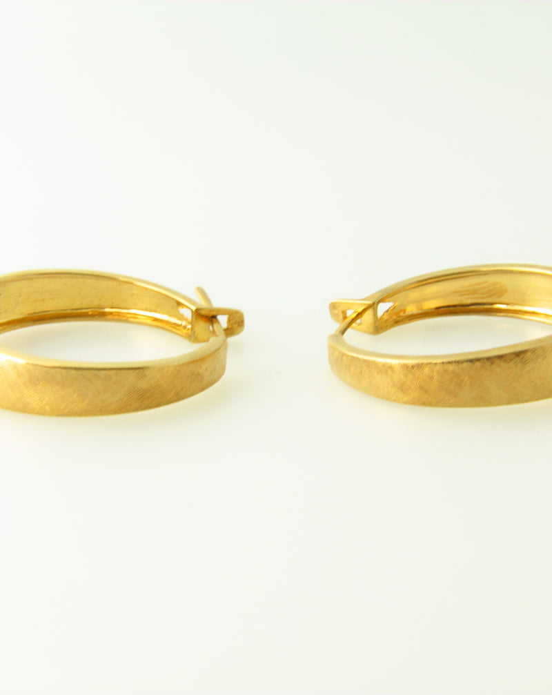 14K Yellow Gold, Hoop Earrings | 18 Karat Appraisers | Beverly Hills, CA | Fine Jewelry