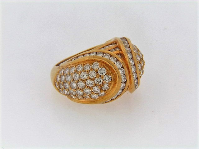 18K-YG DIAMOND DOME RING