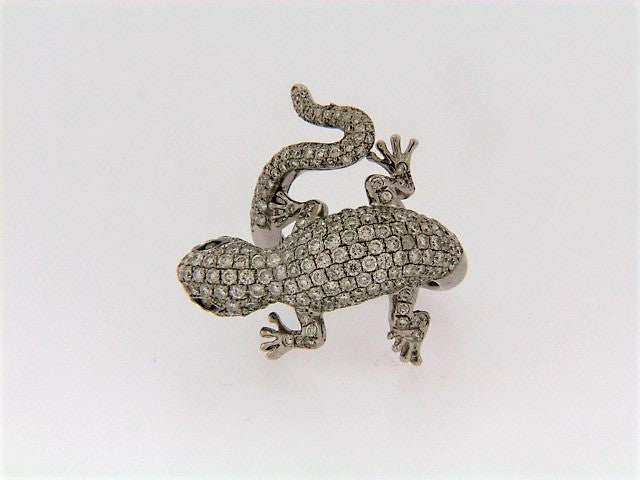 18K-WG DIAMOND SALAMANDER RING