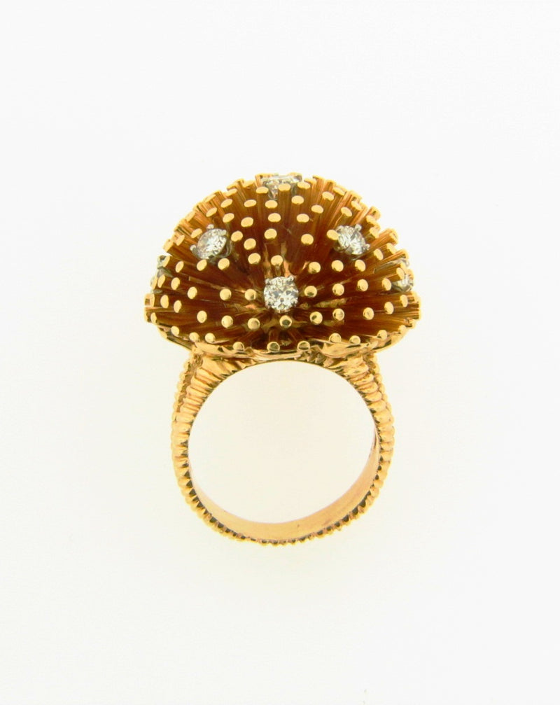 14K Yellow and Rose Gold, Diamond Bombe Ring | 18 Karat Appraisers | Beverly Hills, CA | Fine Jewelry