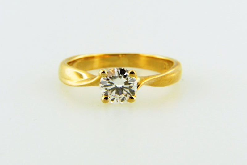 18K Yellow Gold, Diamond Solitaire Ring | 18 Karat Appraisers | Beverly Hills, CA | Fine Jewelry