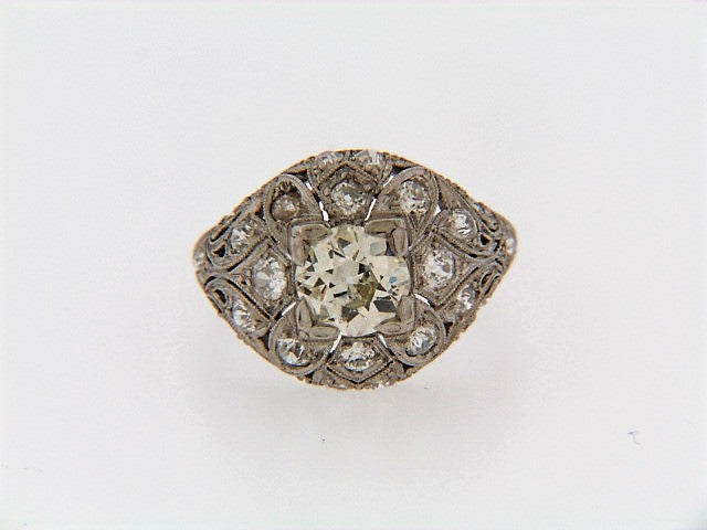 PLATINUM DIAMOND DOMED BOMBE RING | 18 Karat Appraisers | Beverly Hills, CA | Fine Jewelry