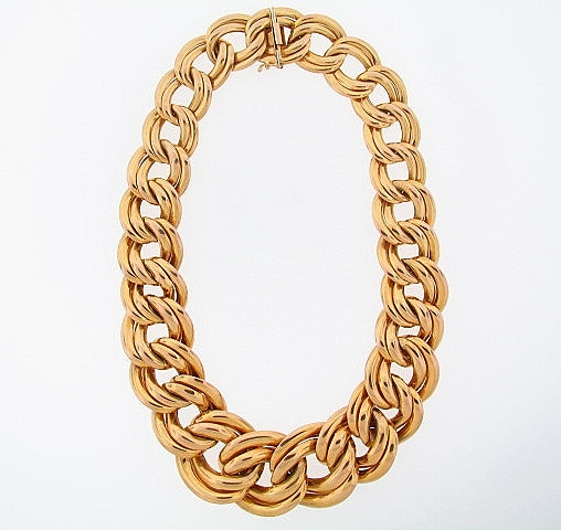 14K-YG OVAL LINK NECKLACE | 18 Karat Appraisers | Beverly Hills, CA | Fine Jewelry