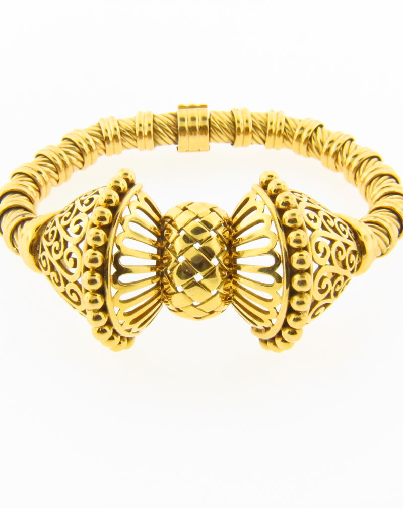 Retro 18K Yellow and Rose Gold Bracelet | 18 Karat Appraisers | Beverly Hills, CA | Fine Jewelry