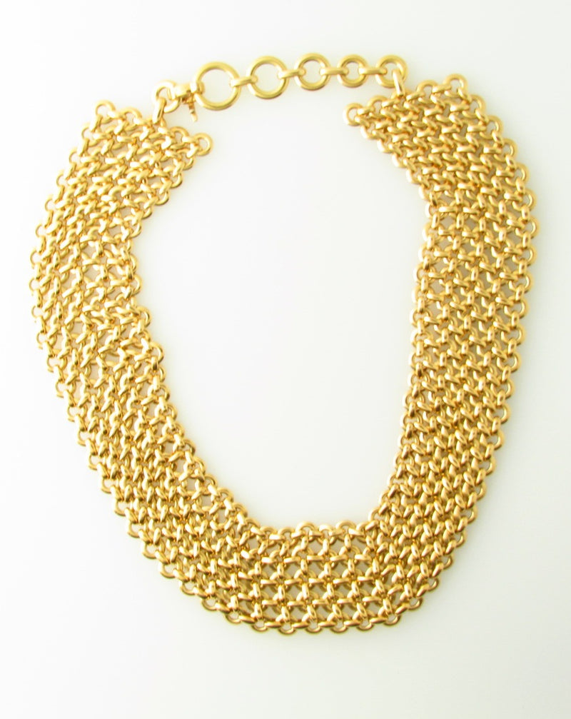 18K Yellow Gold, Mesh Link Necklace by Cartier | 18 Karat Appraisers | Beverly Hills, CA | Fine Jewelry