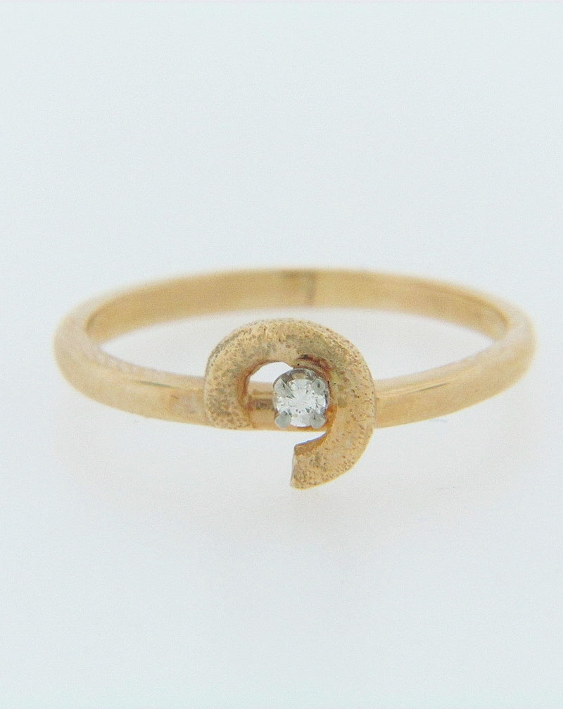 14K-YG DIAMOND RING