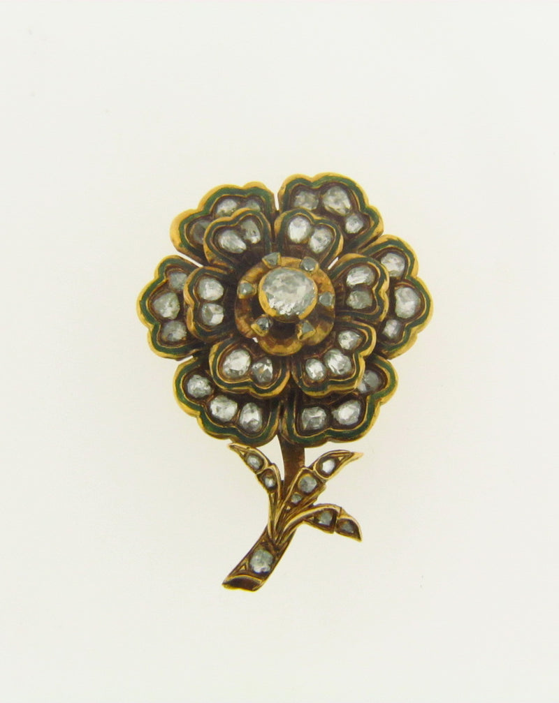 Victorian 18K Yellow Gold, Diamond Brooch | 18 Karat Appraisers | Beverly Hills, CA | Fine Jewelry