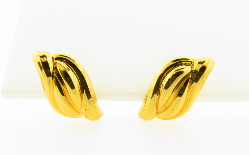 18K Yellow Gold, Tiffany & Co. Earrings | 18 Karat Appraisers | Beverly Hills, CA | Fine Jewelry