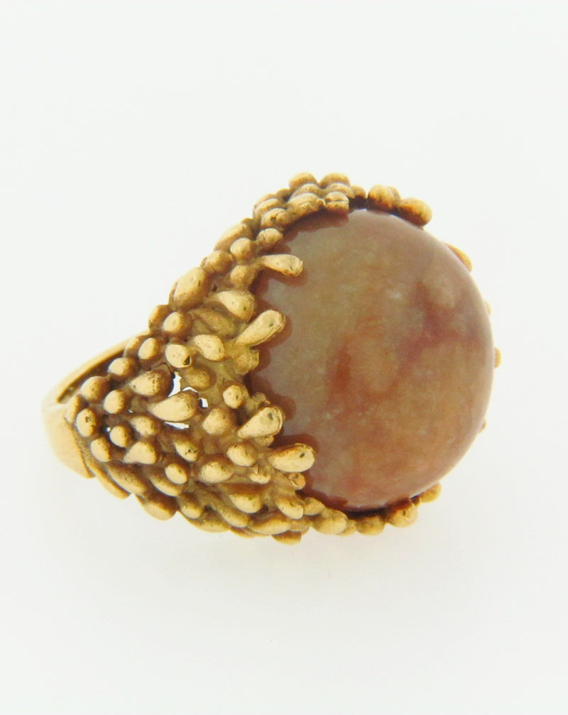 18K-YG BROWN CHALCEDONY RING | 18 Karat Appraisers | Beverly Hills, CA | Fine Jewelry