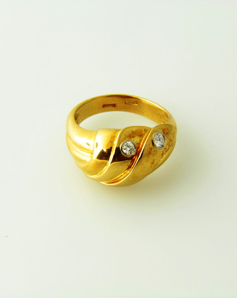 18K Yellow Gold, Diamond Ring | 18 Karat Appraisers | Beverly Hills, CA | Fine Jewelry