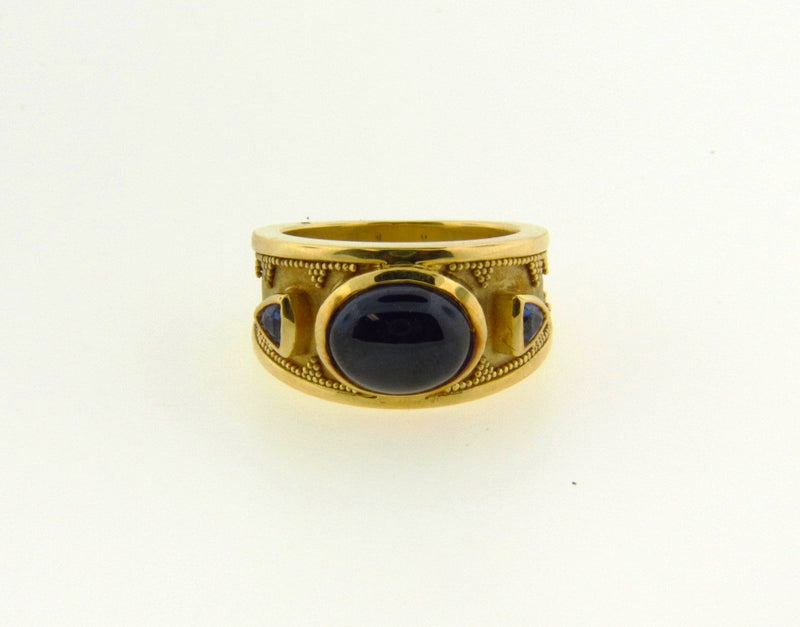 18K Yellow Gold, Sapphire Ring | 18 Karat Appraisers | Beverly Hills, CA | Fine Jewelry