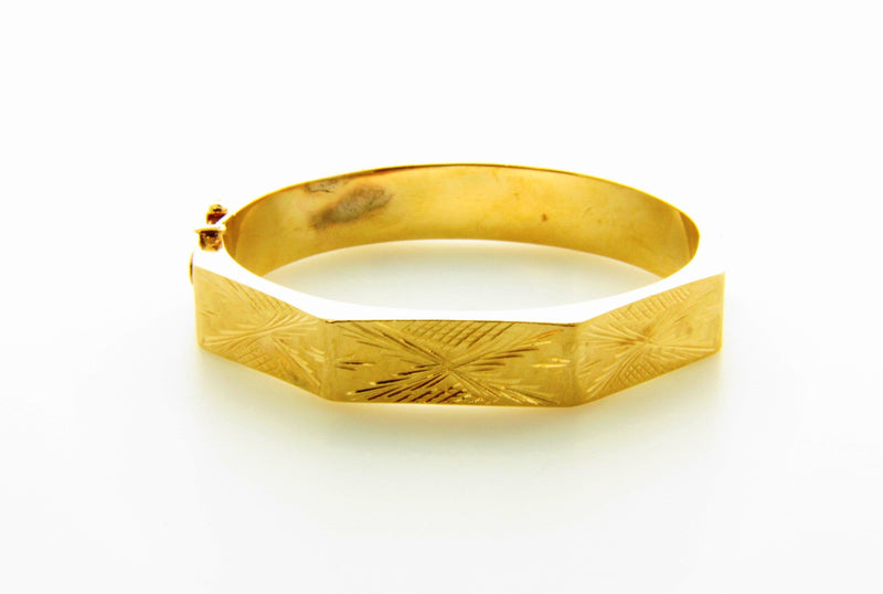 Victorian 14K Yellow Gold, Bangle Bracelet | 18 Karat Appraisers | Beverly Hills, CA | Fine Jewelry