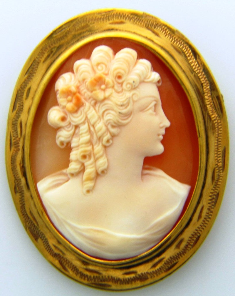 Vintage Cameo Brooch | 18 Karat Appraisers | Beverly Hills, CA | Fine Jewelry
