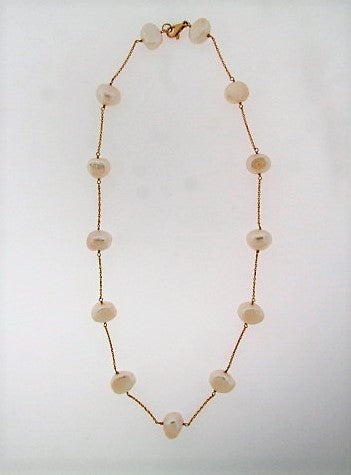 14K-YG PEARL NECKLACE | 18 Karat Appraisers | Beverly Hills, CA | Fine Jewelry