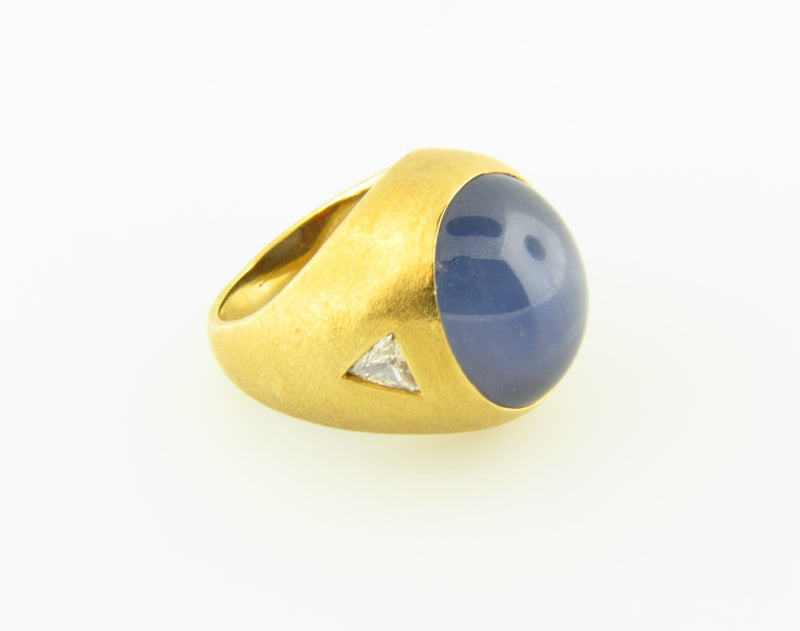 18K Yellow Gold, Star Sapphire and Diamond Ring | 18 Karat Appraisers | Beverly Hills, CA | Fine Jewelry