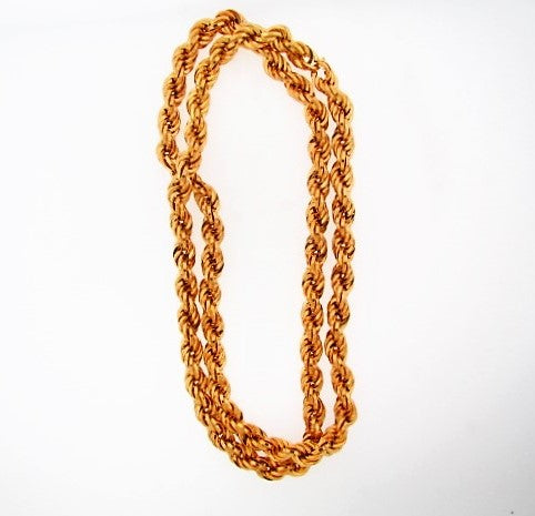 18K-YG TWISTED ROPE NECKLACE