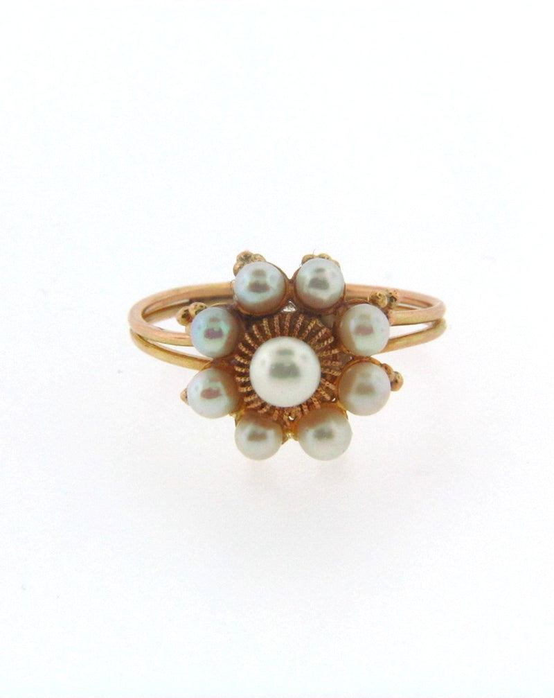 14K Yellow Gold Pearl Ring | 18 Karat Appraisers | Beverly Hills, CA | Fine Jewelry