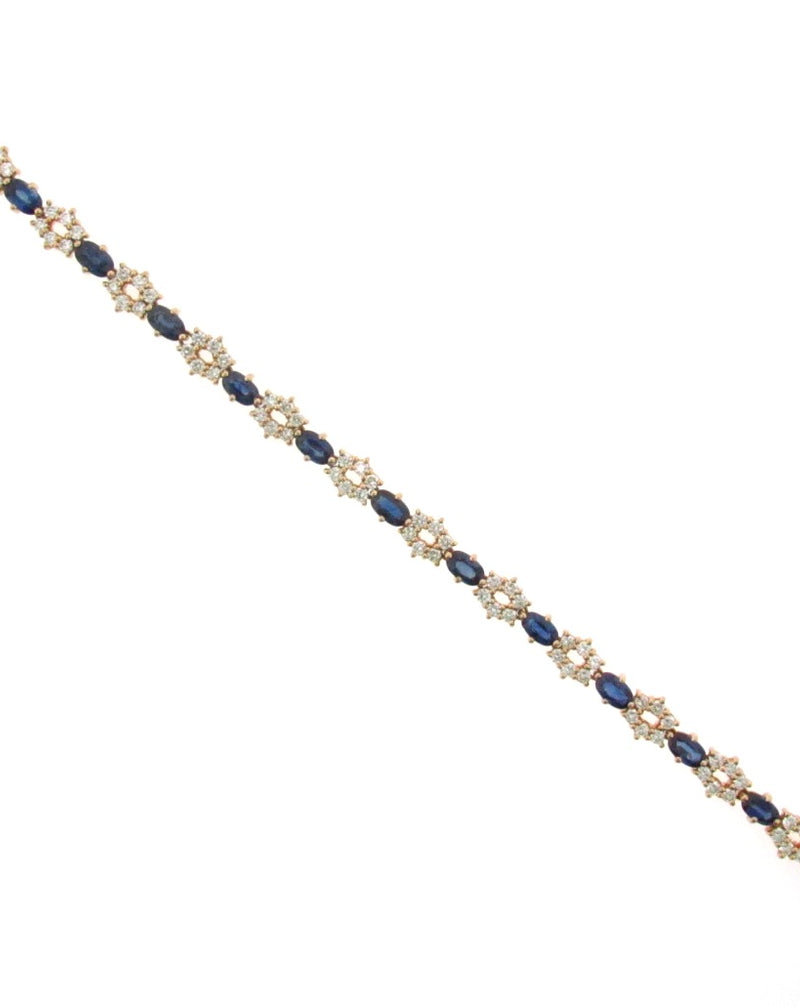 18K Yellow Gold Diamond and Sapphire Bracelet | 18 Karat Appraisers | Beverly Hills, CA | Fine Jewelry