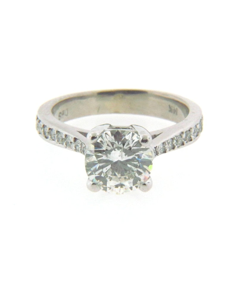 14K White Gold Diamond Solitaire Ring | 18 Karat Appraisers | Beverly Hills, CA | Fine Jewelry